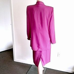 Josephine Chaus Skirts - Fuchsia Double-Breasted Skirt Suit Sz 12